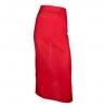 Фартук с карманом; лен; L=86, B=88см; красный