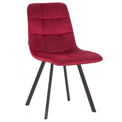 Стул обеденный ALEX SQUARE, цвет сиденья бордовый велюр (V108-85), цвет основания черный,