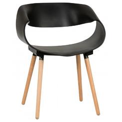 Стул обеденный ALIEN, цвет сиденья черный (B-03), цвет основания светлый бук