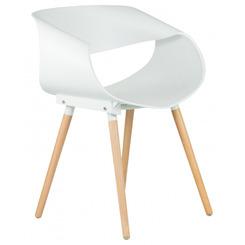 Стул обеденный ALIEN цвет сиденья белый (W-02), цвет основания светлый бук