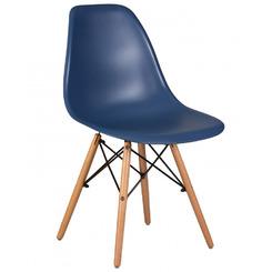 Стул обеденный DSW, цвет сиденья тёмно-синий (BE-12), цвет основания светлый бук