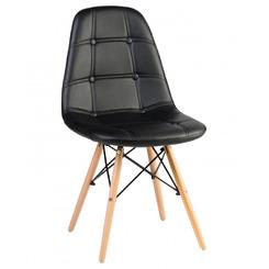 Стул обеденный BENNET, цвет сиденья черный, цвет основания светлый бук
