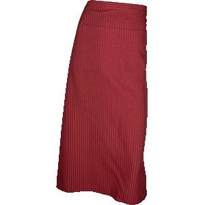 Фартук с карманом, в полоску; полиэстер, хлопок; L=86, B=88см; бордо, белый