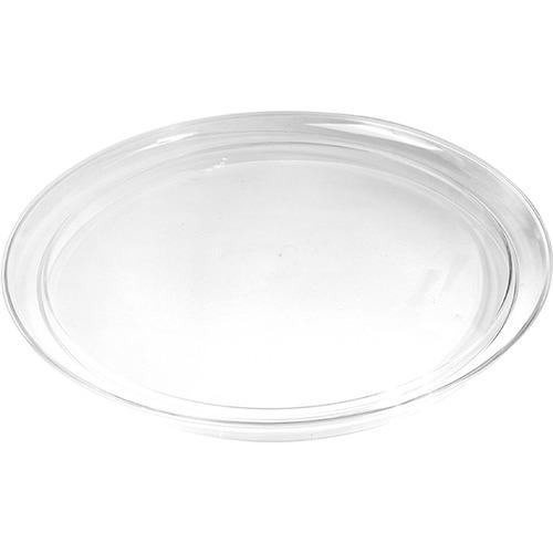 Поднос круглый; пластик; D=35 см; прозрачный