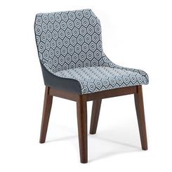 Кресло LW1810, дерево орех, ткань/полиуретан спинка