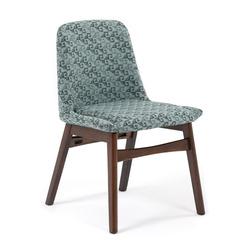 Кресло TIOMAN LW2000, дерево орех, ткань бирюзовый