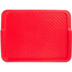 Прямоугольный поднос 5 пластик красный