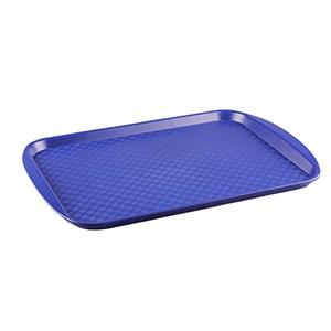Прямоугольный поднос 7 пластик синий