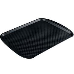 Прямоугольный поднос 10 пластик черный