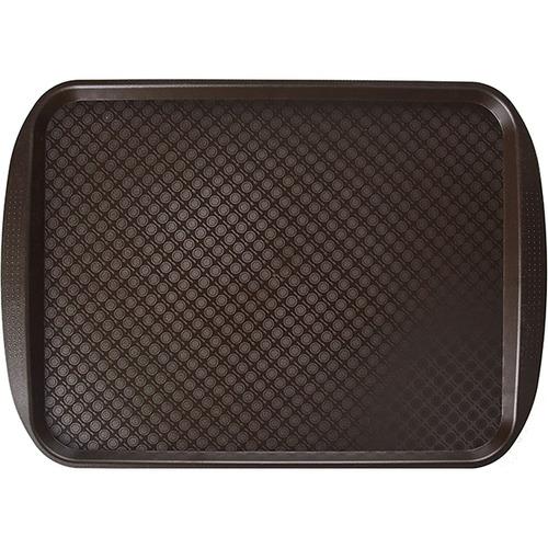 Прямоугольный поднос 13 пластик коричневый