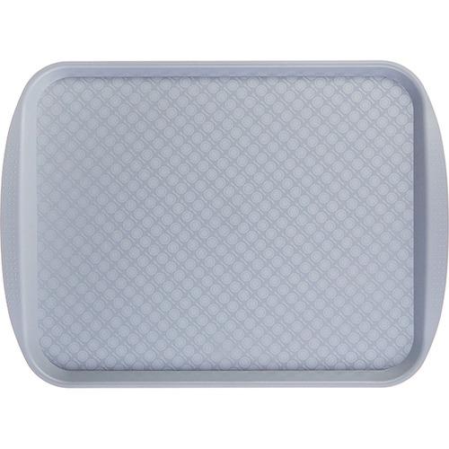 Прямоугольный поднос 9 пластик серый