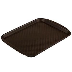 Прямоугольный поднос №2 33x26 см. пластик коричневый
