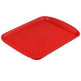 Прямоугольный поднос №3 33x27 см. пластик красный