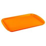 Прямоугольный поднос 14 пластик оранжевый