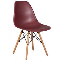 Стул обеденный DSW, цвет сиденья сливовый (R-13), цвет основания светлый бук