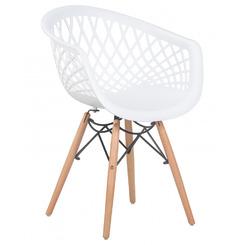 Стул обеденный SAMWELL, цвет сиденья белый (W-02), цвет основания светлый бук