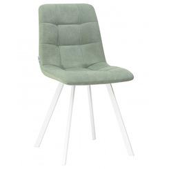 Стул обеденный ALEX SQUARE, цвет сиденья мятная ткань (UF860-11B), цвет основания белый