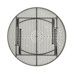 Стол круглый складной пластиковый Кейт 160