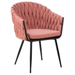Стул обеденный MATILDA, цвет сиденья розовый (LAR-275-10), цвет основания черный