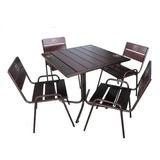Комплект для летнего кафе (стол + 4 стула)